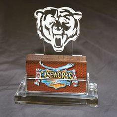 Chicago Bears NFL Business Card Holder w/ Gift Box