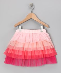 Pink & Orange Tier Skirt