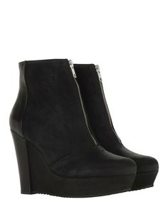 BNIB The Kooples Black Real Suede Leather Wedge Heel Ankle Boots Size 40 UK 7 | Clothes, Shoes & Accessories, Women's Shoes, Boots | eBay!