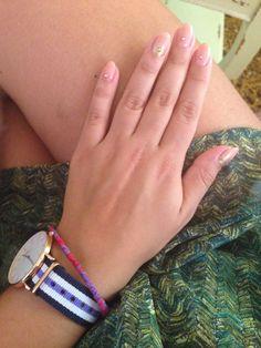 Nude nails with Swarovski!