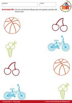 Cuadernillo preescolar 2: 19 fichas de aplicación Preschool Fine Motor Skills, Preschool Learning Activities, Preschool Worksheets, Kindergarten Prep, Letter Matching, Education, Math, Bingo, Homeschooling