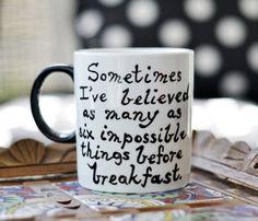 Alice in Wonderland Mug  Literary Quote  Lewis by WonderlandShop, $16.00
