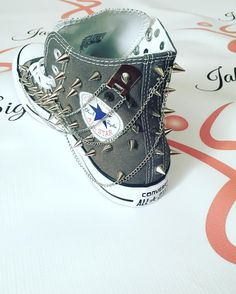 New boys and men's custom spiked converse with chains. Accepting custom orders at http://ift.tt/1wFCXsz or via email jakada_llc@yahoo.com. AND don't forget about our PRE memorial sale. All boutique shoes & boots 60% OFF!! sale excludes custom shoes Jakada Signature boots and jeweled sandals. #mzjakada #jakadasignature #jakadafashion #jakada #clothingstore #fashion #boutique #clothingstore #clothingline #boots #accessories #shoes #sale #clearance #clearancesale #clearancestock #fashionista…