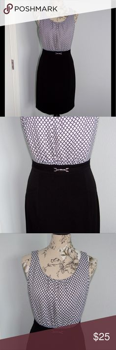 White House Black Market Dress White House Black Market Dress. Like new, clean condition. Size 8, bust measures at 19 inches. Back has a zipper and hook and eye closure. Smoke free and pet free home! White House Black Market Dresses Midi