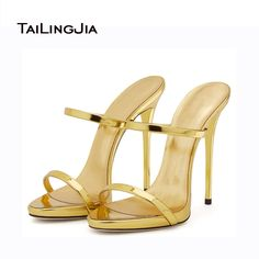 2017 New Women Shoes Women Sandals High Heels Sexy Concise Elegant Luxury Golden&Champagne Available Handmade Shoes US Size 4-15