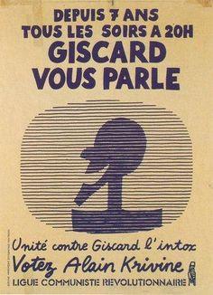 Affiche de la Ligue Communiste Révolutionnaire fondée par Alain Krivine. 1981.
