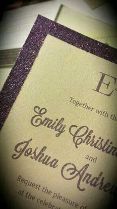 Custom glitter invites by Dalilly Designs dalilly.com