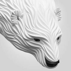 FoxMaximShkretDigitalOrigamiAnimalArtwwwdesignstackco - Fascinating 3d renderings of people and animals by maxim shkret