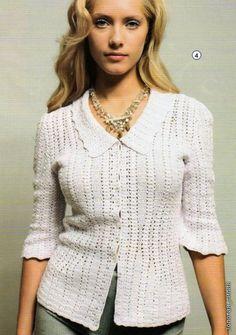 Crochet Lace Dress, Crochet Jacket, Crochet Cardigan, Knit Or Crochet, Filet Crochet, Crochet Tank Tops, Crochet Buttons, Beautiful Crochet, Vintage Crochet