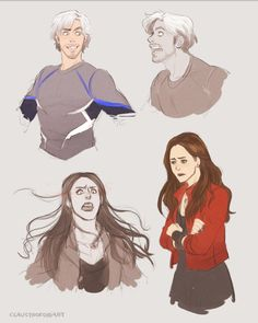 """""""The Maximoff Twins"""" by claustrophobiart"""