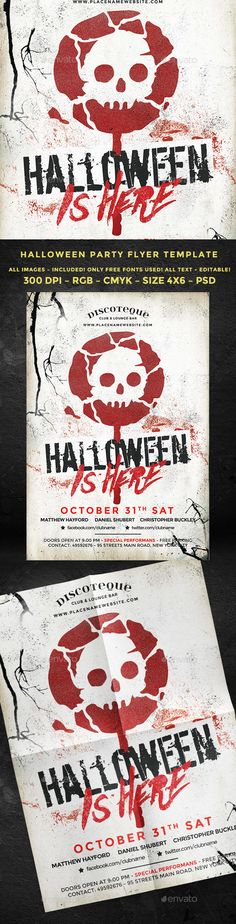 Halloween Flyer Template  Halloween Flyers And Psd Templates