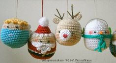 CHECK THIS SITE - she has the cutest gingerbread couple ornaments - she has an English version of the pattern - you simply must check these out - too cute to pass up ~ Christmas, Amigurumi, Milan Crochet Christmas Decorations, Crochet Christmas Ornaments, Crochet Decoration, Christmas Crochet Patterns, Holiday Crochet, Crochet Toys Patterns, Christmas Knitting, Amigurumi Patterns, Christmas Crafts