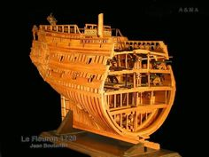 Image result for le fleuron french ship Model Sailing Ships, Model Ships, Model Ship Building, Ship Of The Line, Wooden Ship, Scale Models, Pirate Ships, Shipwreck, Boating