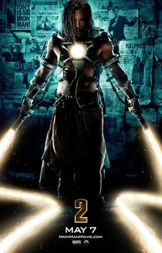 Whiplash Iron Man 2 Movie Poster has premiered and gives us a clear view of what Ivan Vanko (Mickey Rourke) is bringing to the table in the upcoming Marvel Dc, Marvel Villains, Marvel Heroes, Marvel Movies, Comic Movies, Marvel Characters, Mickey Rourke, Iron Men, Whiplash Marvel