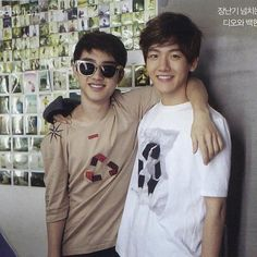 Aww kyungsoo and baekhyun  as teens
