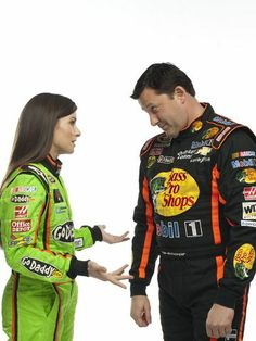 Tony Stewart, right, defended his teammate Danica Patrick Wednesday and blasted Richard Petty for his critical comments about Patrick.