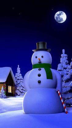 Christmas World, Christmas Art, Winter Christmas, Xmas Wallpaper, Christmas Phone Wallpaper, Beautiful Christmas Scenes, Frosty The Snowmen, Snowman, Foto Baby