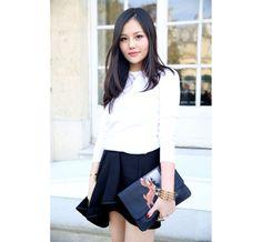 Pochette #Givenchy automne-hiver 2013-2014   #ParisFashionWeek, #streetstyle