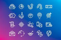forma_pitney_bowes_01 Brand Icon, Flat Ui, Workshop Organization, Shop Front Design, Pictogram, Line Icon, Online Portfolio, Icon Set, Helping People