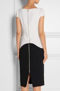 Antonio Berardi|Two-tone wool-crepe dress|NET-A-PORTER.COM