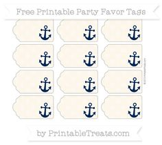 Free Antique White Dotted Pattern Nautical Party Favor Tags Plus Anchor Party, Anchor Birthday, Party Labels, Party Favor Tags, Food Labels, Nautical Baby, Nautical Theme, Nautical Wedding, Nautical Party Favors