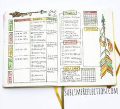Weekly Spread Ideas for Your Bullet Journal   the Krafty Owl
