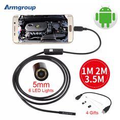3.5 메터 2 메터 1 메터 마이크로 USB 안드로이드 내시경 카메라 5.5 미리메터 렌 뱀 파이프 검사 카메라 방수 OTG 안드로이드 USB 내시경