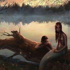 fantasy, girl, and mermaid image