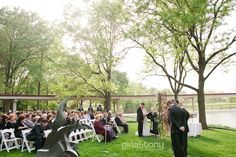 Couldn't ask for a more perfect day for a wedding, now could you?