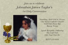 1st Holy Communion Invitations Remembrance - Digital Download - Get these invitations RIGHT NOW. Design yourself online, download and print IMMEDIATELY! Or choose my printing services. No software download is required. Free to try!