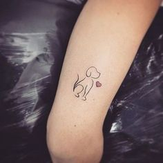 awesome Tiny Tattoo Idea - dog minimalist tattoo - Buscar con Google...