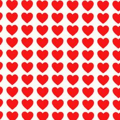 Lecien Heart Dots Fabric Polka Dot Hearts Valentines Day Valentine Red on White