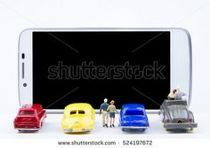 Miniature tiny toys use smartphone as a movie screen. Technology Background, Communication, Smartphone, Miniatures, Movie, Signs, Toys, Ideas, Mockup