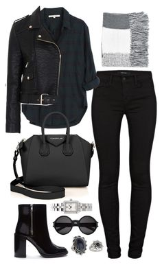 A fashion look from December 2015 by elizabethwhitehead featuring Xirena French Connection J Brand Forever 21 Givenchy Tory Burch Topshop and Yves Saint L. Winter Fashion Outfits, Look Fashion, Autumn Winter Fashion, Winter Outfits, Fashion News, Cute Casual Outfits, Stylish Outfits, Looks Black, Urban Chic