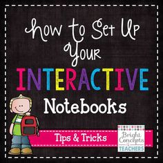 Bright Concepts 4 Teachers: Lesson Plans and Teaching Strategies: Setting Up Interactive Notebooks Spanish Interactive Notebook, Interactive Student Notebooks, Science Notebooks, Math Notebooks, Reading Notebooks, Math Classroom, Classroom Ideas, Classroom Organization, Teaching Strategies