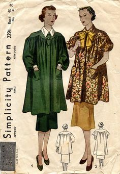 french artist's smock | Unsung Sewing Patterns: Simplicity 2291 - Misses' and Women's Smock