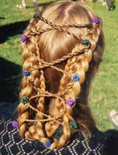 Hairstyle of the Middle Ages - (if your hair is long enough) pin up the braids into a zigzag pattern. Instantly looks way more complicated!