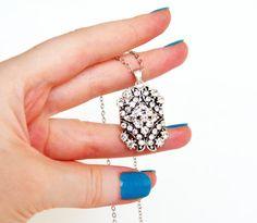 art deco clear crystal swarovski rhinestone tibetan by sestras, $31.90