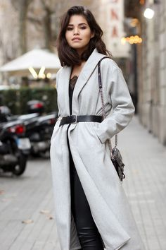 Adriana Gastelum   Coat and belt #fakeleather