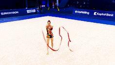Mariya Mateva's ribbon routine at the 2014 European Championships