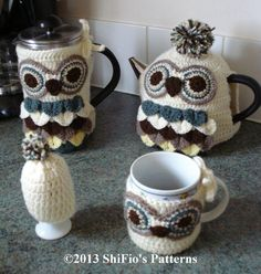 Free Knitting Pattern For Owl Tea Cosy : Crochet Cup, Mug & TeaPot cosies on Pinterest Tea Cosies ...
