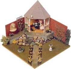 make your own miniature garden along with doll house  so cute