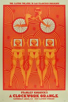 Stanley Kubrick A Clockwork Orange Movie Poster