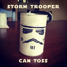 star wars party games - storm trooper toss