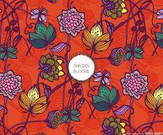 Garden Blooms_hot orange