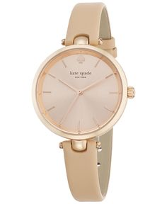 kate spade new york Women's Holland Vachetta Leather Strap Watch 34mm 1YRU0812 - Watches - Jewelry & Watches - Macy's