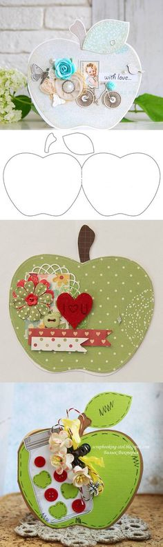 DIY Card in the Form of Apple