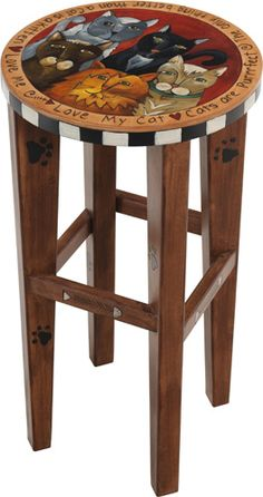 Cats - i want this stool for my cutting table!