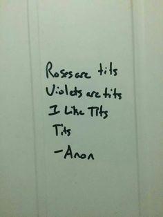 Deep poetry.
