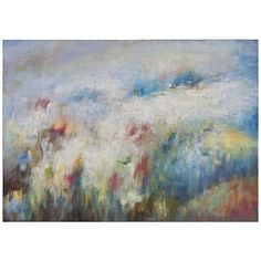 """Uttermost Breathe Hand Painted 56"""" Wide Canvas Wall Art"""